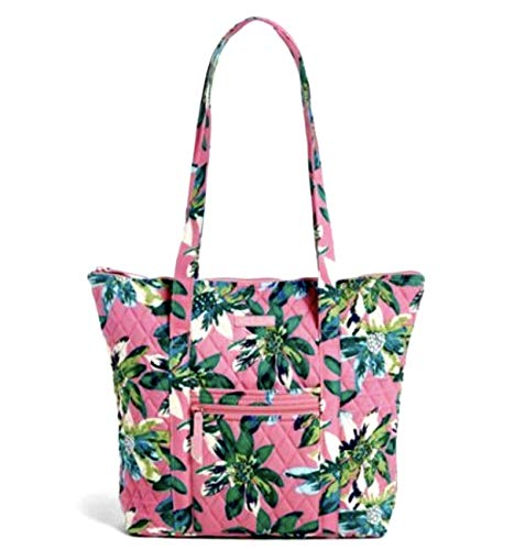 Vera Bradley Villager with Solid Interiors (Tropical Paradise with Blue - Vera Villager Tote Bradley
