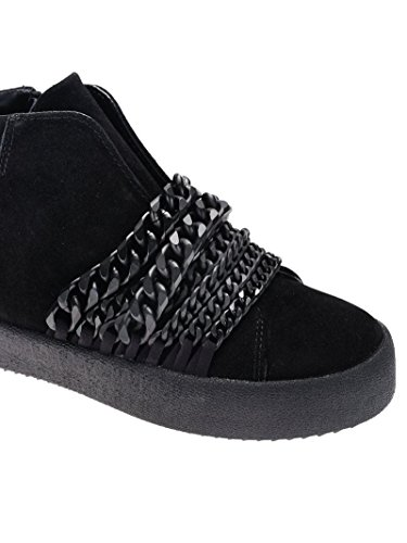 KKDUKE01 Camoscio Sneakers Top and Hi Kylie Kendall Donna Nero 6g0q4Yp0wn