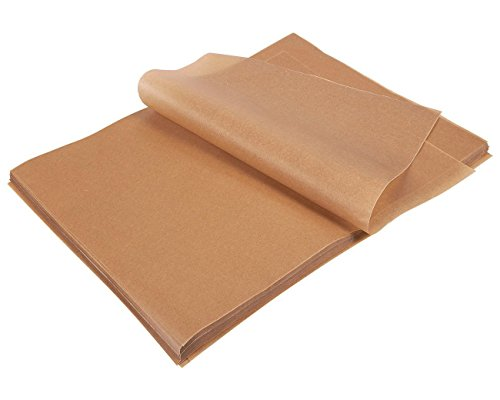 200 Count Precut Parchment Baking Paper - Unbleached Parchment Paper for Baking, Half Sheet Pans - Non-Stick Baking Parchment Sheets, Brown, 12 x 16 Inches by Juvale