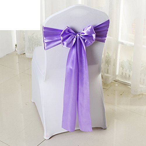 Wedding chair back cover/decorative streamers/bow ribbon-I by WXTFQB