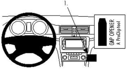 Brodit 854219 Proclip Halterung Schwarz Elektronik