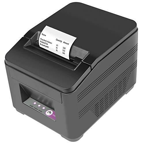Fangtek 80mm Thermal Receipt Printer USB Auto Cutter Pos Kitchen Printer, 180mm/sec High Speed Printing