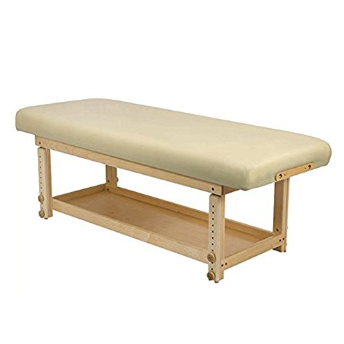 Stable 1 Piece Stationary Massage Table (Cream) ()
