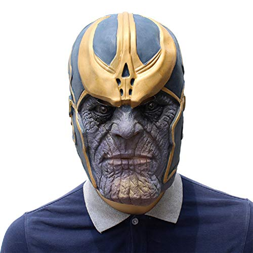 BEELEAR Thanos Masks Cosplay Party Mask Latex Helmet Superhero Avengers Basic Mask for Halloween Costume Party Decorations Blue ()