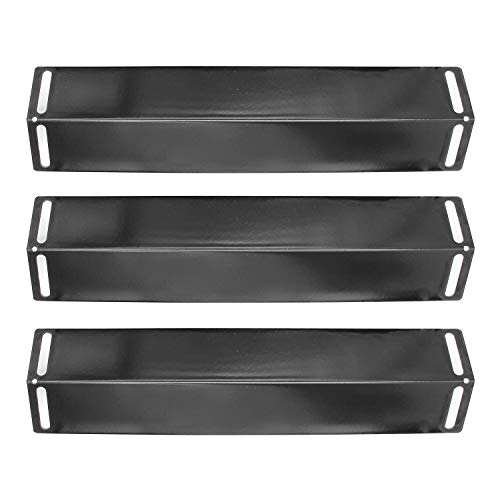 Hongso Gas Grill Porcelain Steel Heat Plate Shield Replacement for Grillware, Uniflame, Charbroil and Others, 16 1/2 Inch 3-Pack, (PPB151)