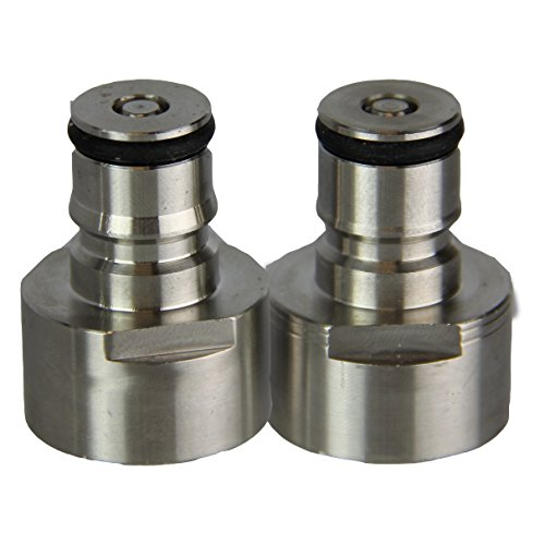 Ball Lock Quick Disconnect Adapters- Set for Gas and Liquid Lines for A, D, S, and G Type Keg Couplers, Works with Commercial and Homebrew Kegs, a U.S. Solid Product (Conversion Kit Coupler)