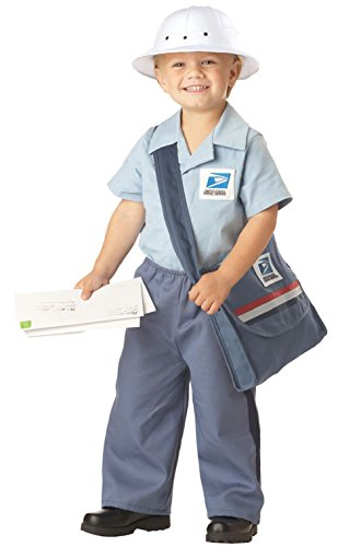 Postman Hat Costume (Mr Postman USPS Mailman Licensed Uniform Toddler Halloween Costume)