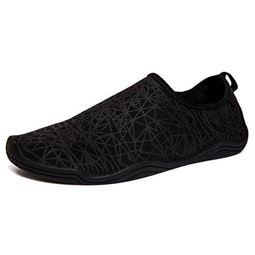 AMAWEI Men Women Water Shoes Barefoot Quick Dry Beach Swim Shoes Sports Aqua Socks Surf Yoga Pool Aerobics (46, 04-Black) by AMAWEI (Image #7)