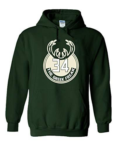 Green Milwaukee Giannis Greek Logo Hooded Sweatshirt Youth