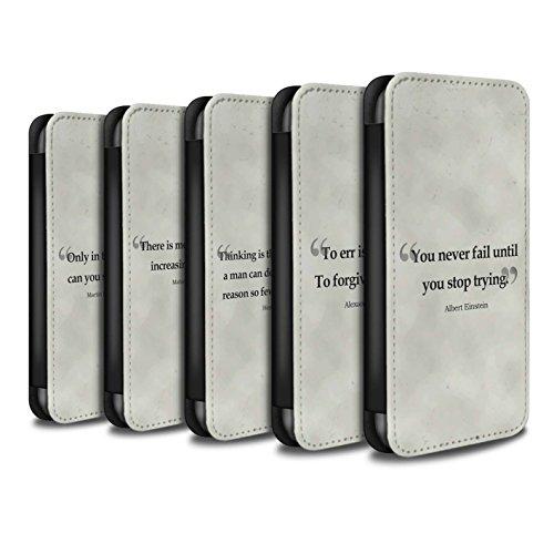 Stuff4 Coque/Etui/Housse Cuir PU Case/Cover pour Apple iPhone 6 / Pack 9pcs Design / Citations Célèbres Collection