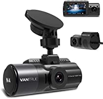 Vantrue N4 Three Way Dash Cam, 3 ChannelFront Inside and Rear 1440P+1080P+1080P Car Camera with Infrared Night Vision,...