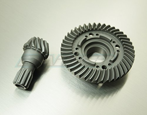 Rear Steel Spiral Cut Differential Diff Ring Pinion Gear for 1/5 Traxxas X-MAXX XMAXX Replace 7778X