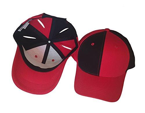 HarlequinHats Pigtail Hat 2.0 Black/Red ()