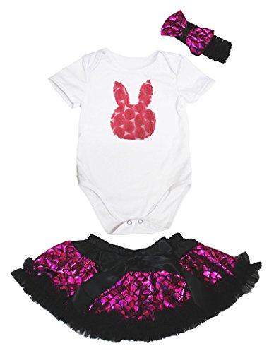 Petitebella Love Easter Tie White L//S Romper Blue Scales Baby Skirt Nb-12m