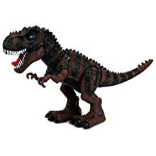 Dinosaur Century Tyrannosaurus Rex T-Rex Battery Operated Toy Dinosaur Figure w/Realistic Movement, Lights and Sounds (Colors May Vary)