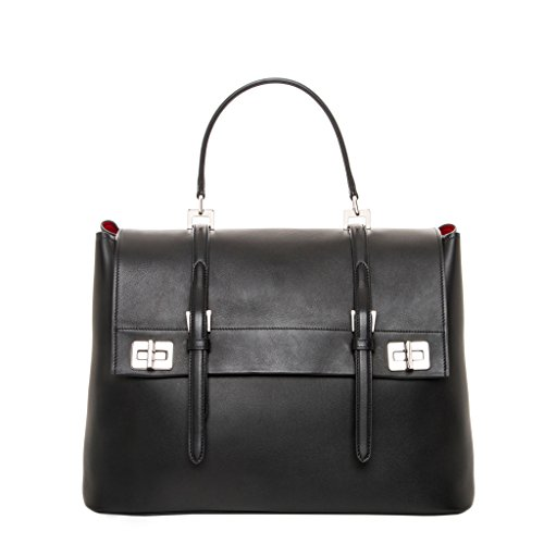 Prada Women's Saffiano Calf Satchel Black