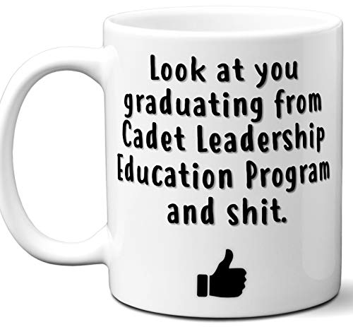 Cadet Leadership Education Program Graduation Gift. Cocoa, Coffee Mug Cup. Student High School Grad Idea Teen Graduates Boys Girls Him Her Class. Funny Congratulations. 11 -