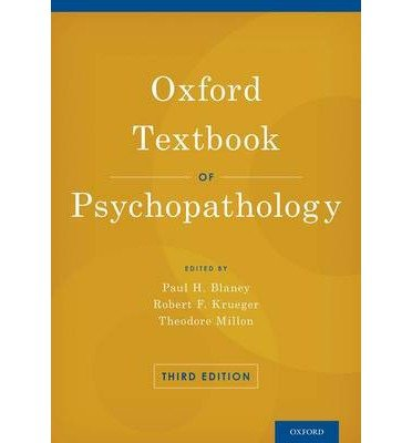 [(Oxford Textbook of Psychopathology)] [Author: Paul H. Blaney] published on (October, 2014)