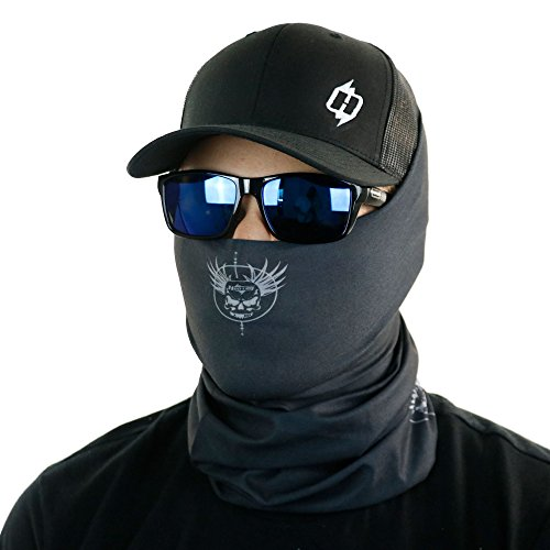 Hoo-Rag Tactical Facemask & Neck Cover - Protection From Sun, Wind & Harsh Elements (Black) ()