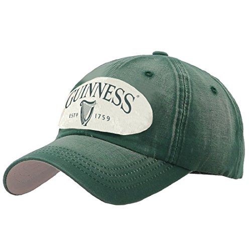 Bottle Green Distressed Patch Baseball Cap -