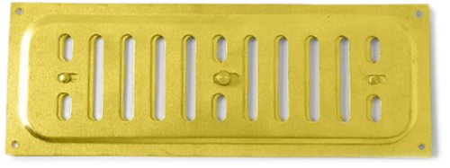 Bulk Hardware BH01692 Adjustable Hit and Miss Air Vent Grille, 240 x 90 mm (9.45 x 3.55 inches) - Aluminium Gold