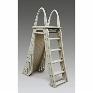 this two sided ground pool ladder is a good option for people who are looking for a mix of affordability and quality it is reasonably priced depending on