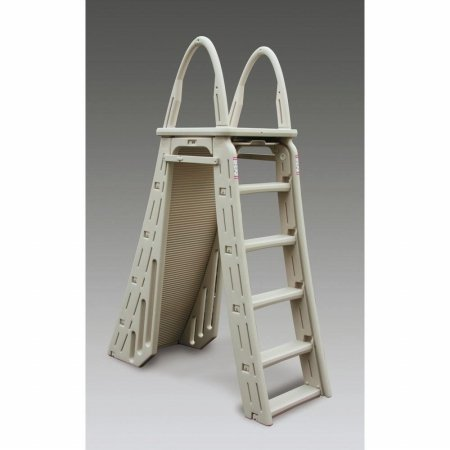 confer plastics a frame 7200 above ground adjustable pool roll guard safety ladder