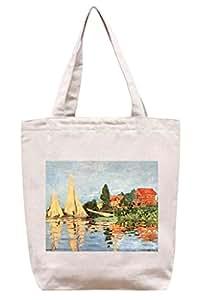 Coeur au soleil de Monet - bolso de totalizador de la lona del algodón
