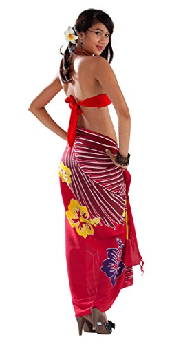 Bain Tropical nbsp;monde Cover Red up Maillot Femme Paréos De Floral Pour 1 B8xp6Hnqp