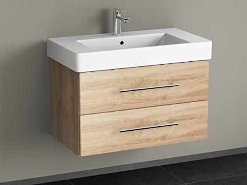 Bagno Aqua Flex Bathroom Furniture 80 cm with Basin Oak Gold ...