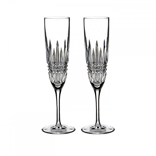 Waterford Set of 2 Lismore Diamond Champagne Flutes