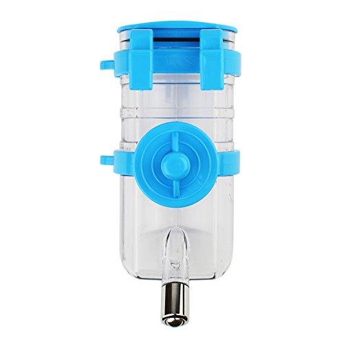 Zelta 12oz Pet Drinking Bottle Automatic Water Dispenser Feeder For Rabbit Cat Dog Small Animals (Blue) by Zelta (Image #1)