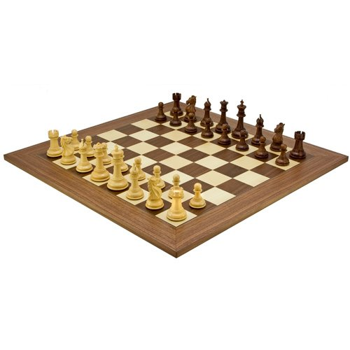 Madrid Sheesham Chessmen With 23.6 Inch Deluxe Walnut (Madrid Walnut)