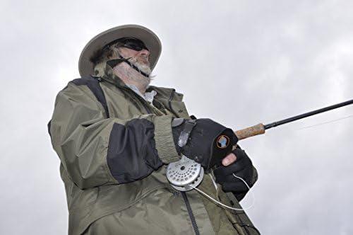 ペアのGripeeze釣り手袋with ExtraグリップPalms moreグリップときでも濡れ、指なしインデックス指、ダブル手首ストラップ、グリップストラップto Relieveテンションと手首Ache &ラップAwayストラップシステム–最高の手袋の釣り( XXL、右ハンドストラップ)
