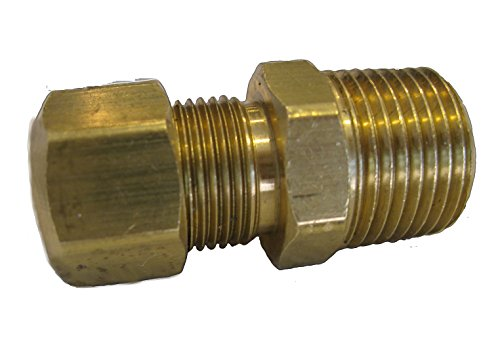 Compression Brass Fitting Connector Coupling X Male NPT[68F0506] (5/16 Comp x 3/8 ()