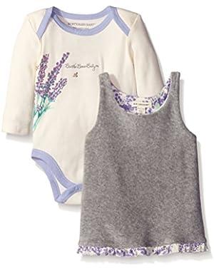 Girls' Organic Reversible Floral Dress