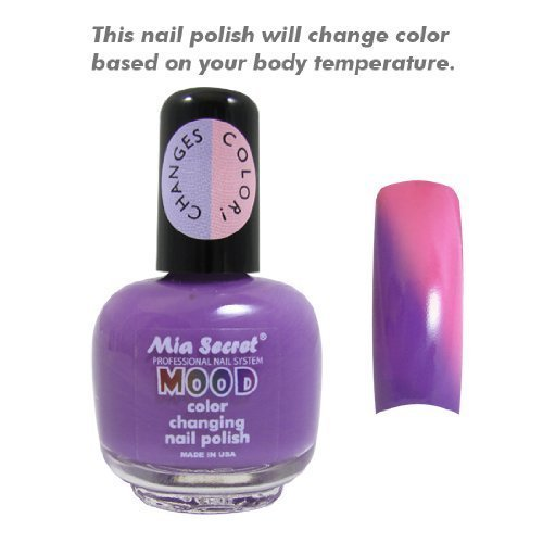 - Mia Secret Mood Nail Lacquer Color Changing Nail Polish Purple to Pink