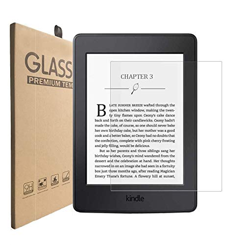 (2 Pack) KIQ Tempered Glass Screen Protector for Amazon Kindle E-Reader 6.0