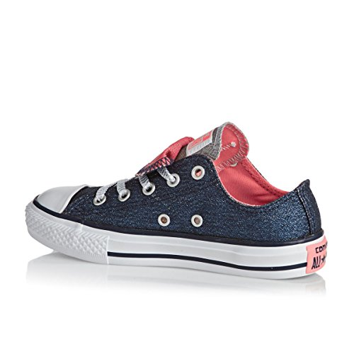 Converse Kids CT All Star Double Tongue Ox Canvas Trainers Azul
