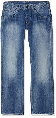 Hombre Pepe Vaqueros N56 para Jeanius Azul N56 Denim Straight Jeans TqAUXqB
