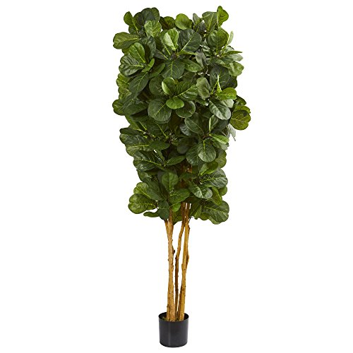 Natural Leaf Tree - Nearly Natural 7' Fiddle Leaf Fig Artificial Tree Green