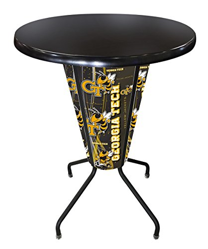 - Holland Bar Stool Co. Outdoor/Indoor LED Lighted Georgia Tech Pub Table