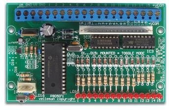 Velleman K8050 15 Channel Ir Remote Control Receiver