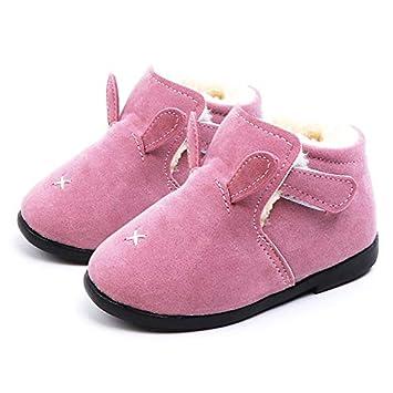93c441e43fde8 Amazon.com: Kids Baby Warm Winter Cotton Shoes Solid Cartoon Velet ...