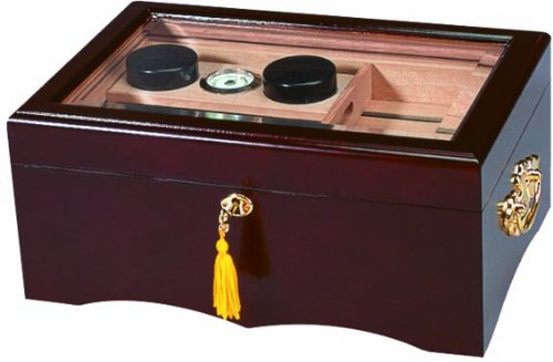 Quality Importers El Rey Cigar Humidor in Mahogany by Quality Importers