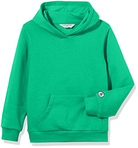 Kid Nation Kids' Solid Fleece Hooded Pullover Sweatshirt for Boys or Girls S Green - Kid Green
