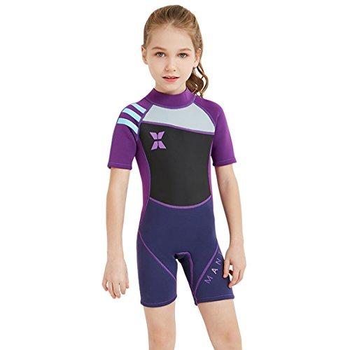 07feb3e9e6 Nataly Osmann Shorty Wetsuit for Kids 2.5mm Premium Neoprene Suit for Girls  and Boys Surfing Swimming Back Zip Spring Suit - Buy Online in Oman.