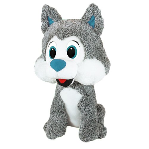 Blue Eyes RetailSource Ltd 5-492-BLU Frosty The Husky 20 in Plush Collectible Toy