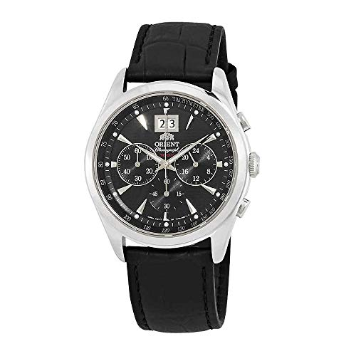 (Orient Classic Chronograph Black Dial Mens Watch FTV01004B)