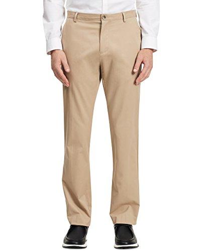 Calvin Klein Men's Refined Cotton Twill Pant, Classic Khaki, 32W 34L (Calvin Klein Khaki Pants)